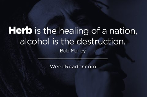 Herb is the healing of a nation, alcohol is the destruction