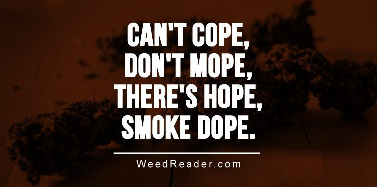Cant cope dont mope theres hope smoke dope