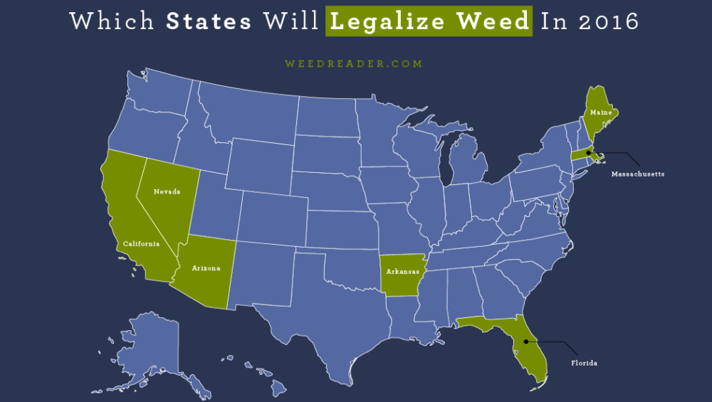 Which States Will Legalize Weed In 2016