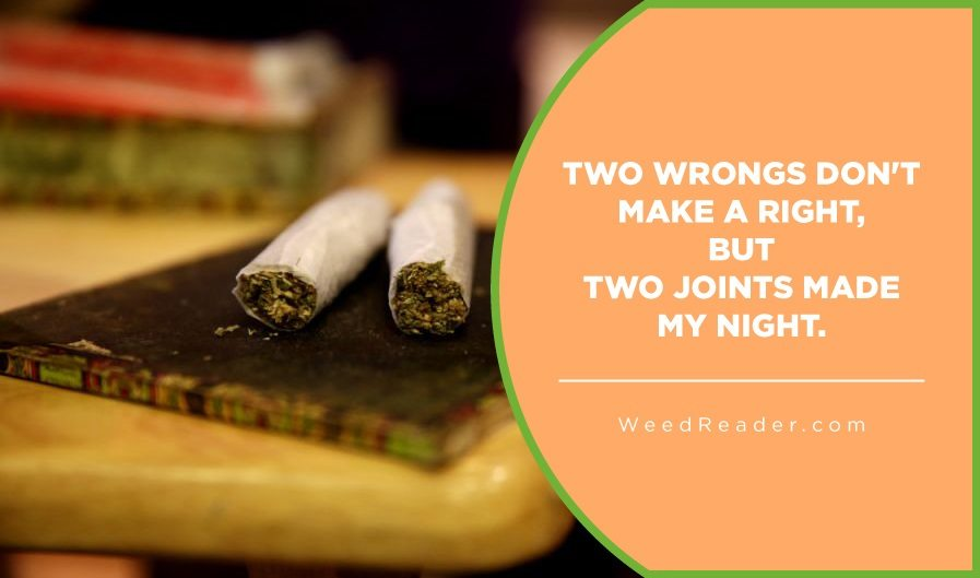 Two wrongs dont make a right but two joints made my night