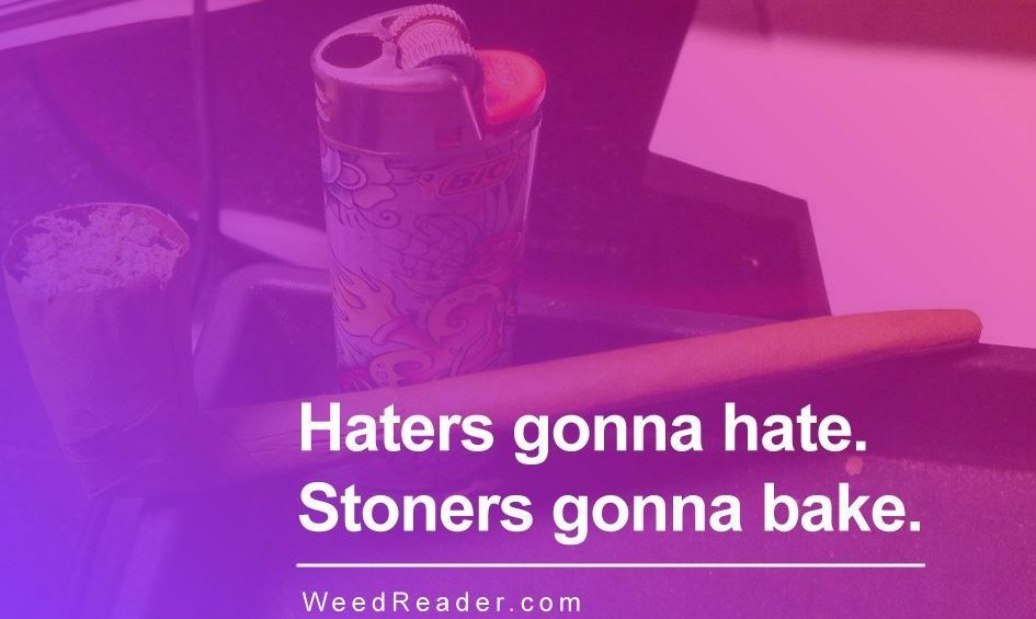 Haters gonna hate. Stoners gonna bake