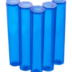 98mm pop top vials - 5 ct. Blue