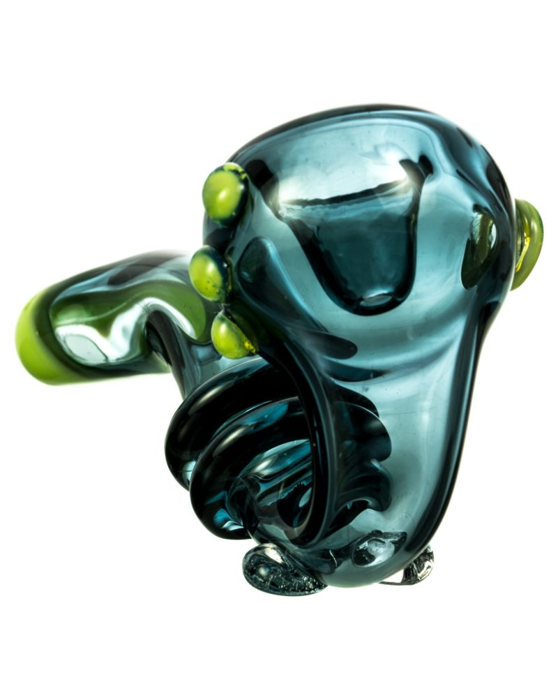 Teal Pipe with Green Accents