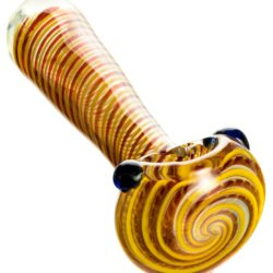 dankstop tight spiral spoon pipe w fumed glass red 1