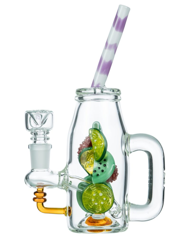Bong with clear glass