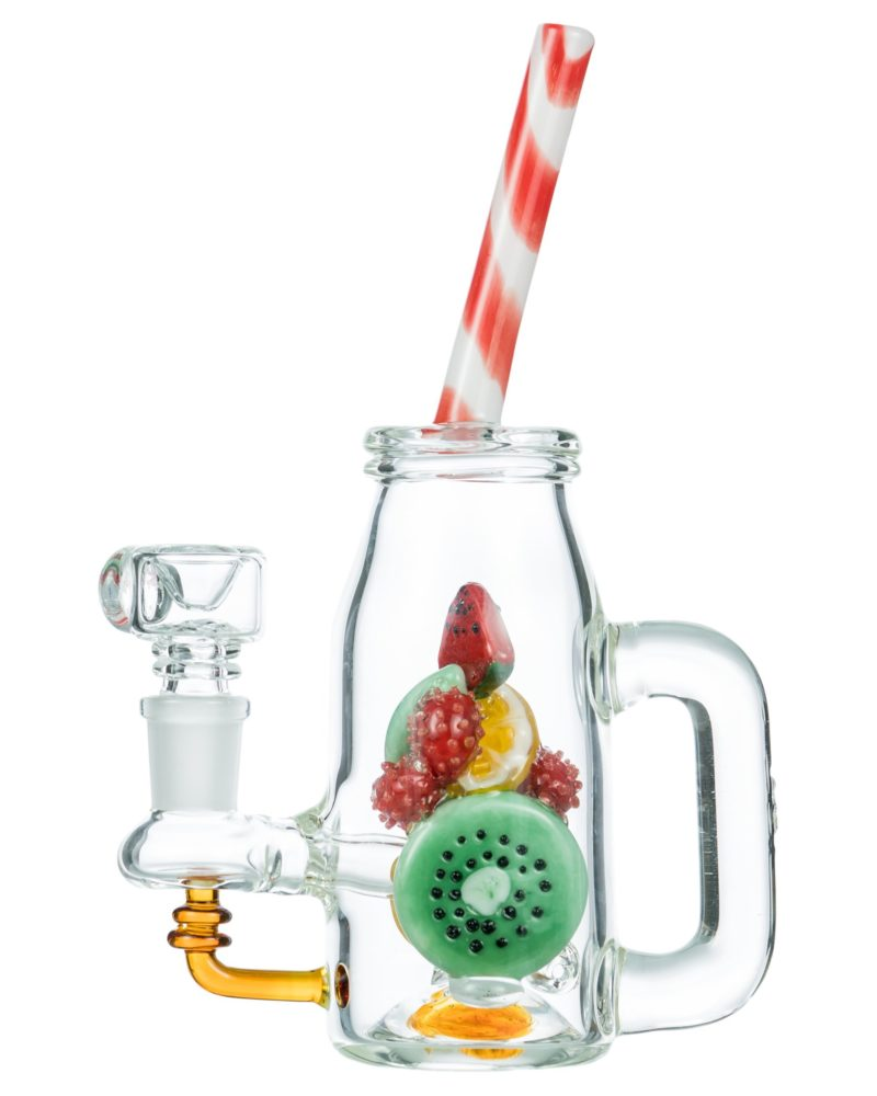 Bong with clear glass handle