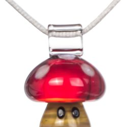 Empire Glassworks - Mario Themed Mushroom Pendant