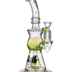 Icon Slyme Accented Cone Perc Bong in Slyme Green