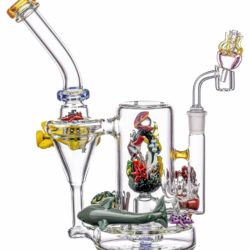 empire glassworks self illuminating aquatic themed rig dab rig eg 2003 12546922905674