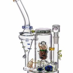 empire glassworks self illuminating forest night themed recycler dab rig eg 1979 12547119382602
