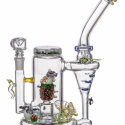 empire glassworks self illuminating forest night themed recycler dab rig eg 1979 12547119480906
