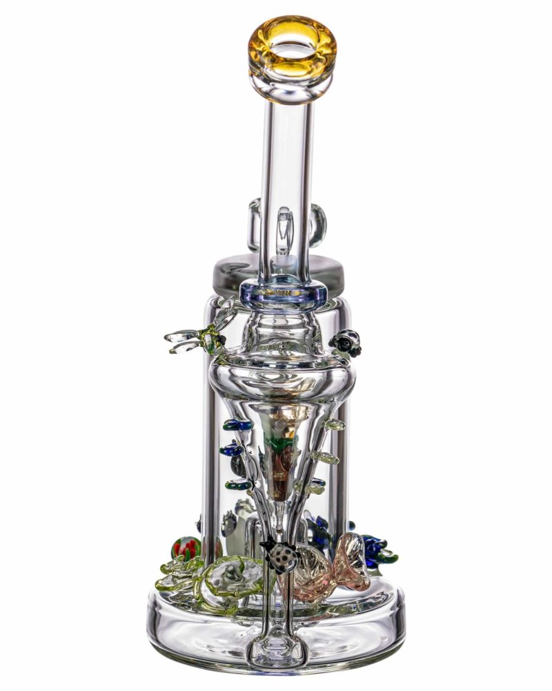 empire glassworks self illuminating forest night themed recycler dab rig eg 1979 12547119513674