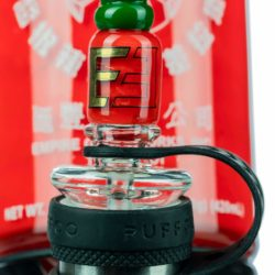 empire glassworks sriracha themed carb cap for puffco peak carb cap eg p10607 12753952571466