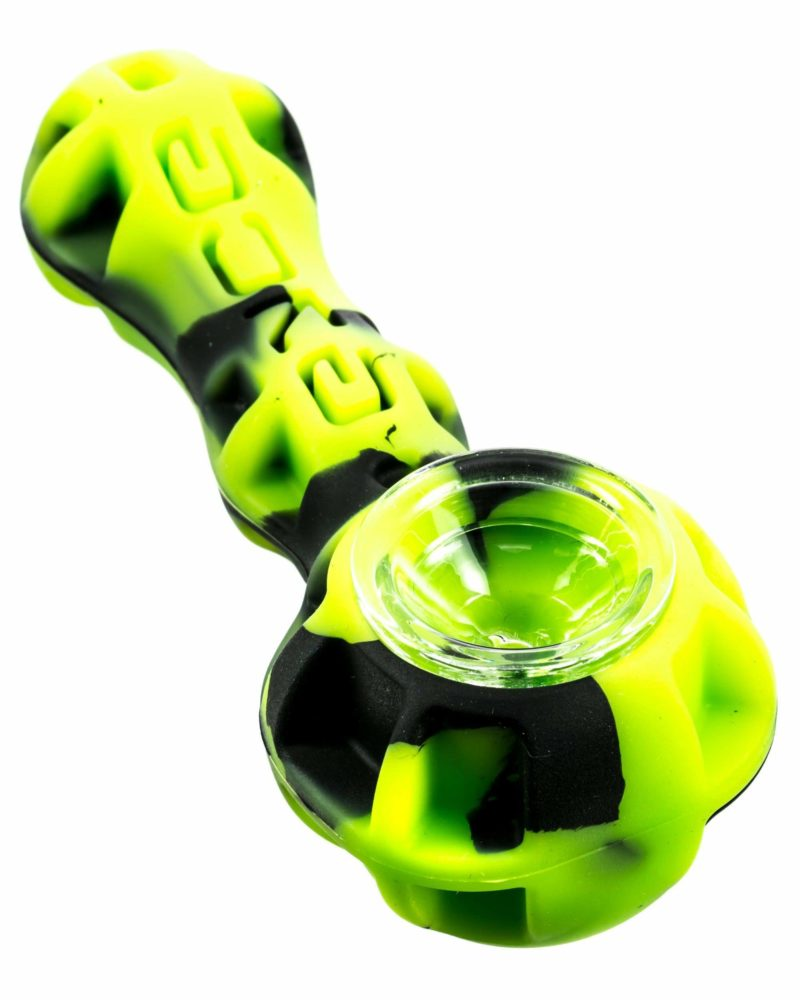 eyce silicone spoon pipe green and black hand pipe ey ssp gm 30130327125