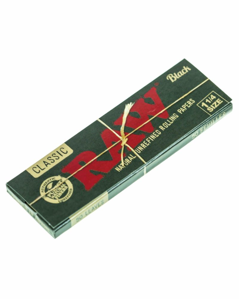 raw black papers single pack 1 1 4 rolling papers raw 114 black 29519520853