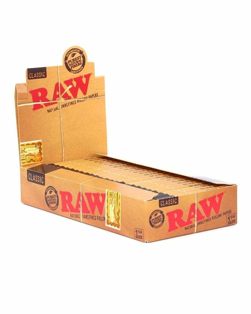 """RAW - 24 Pack Classic 1-1/4"""" Rolling Papers"""